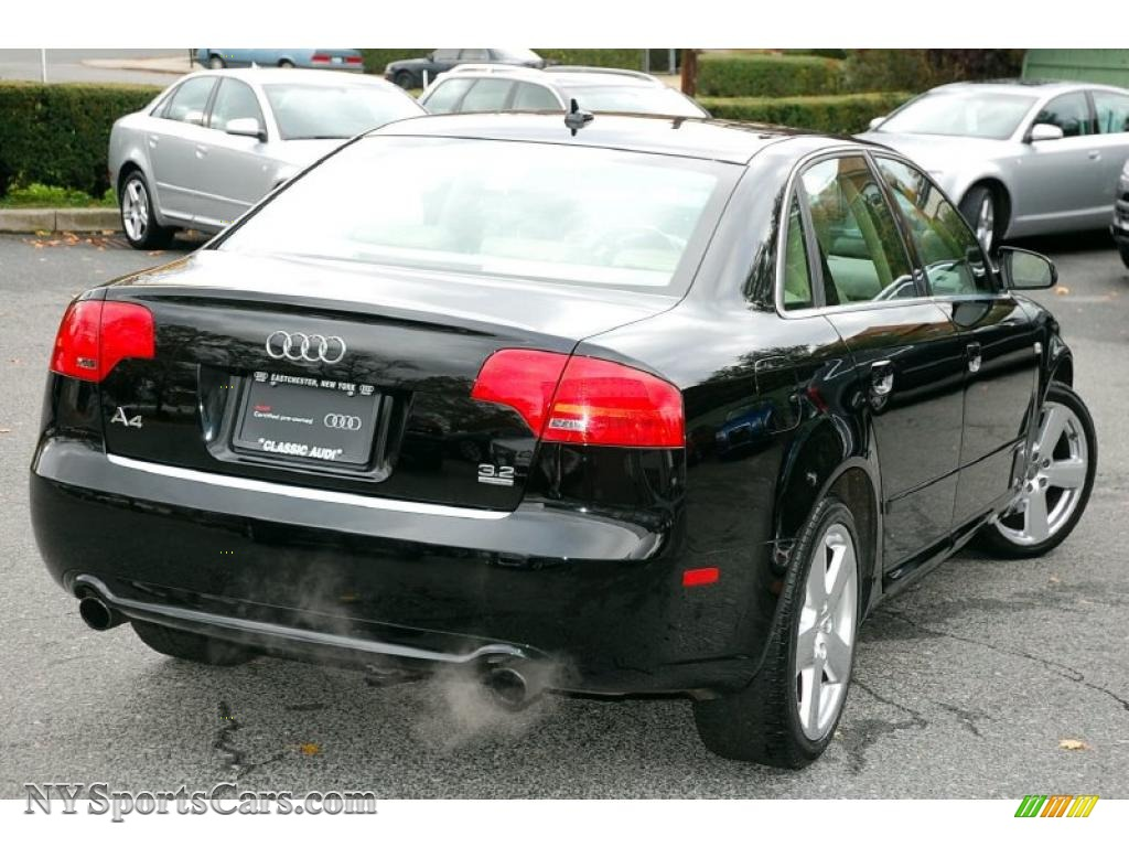 2008 audi a4 3 2 quattro s line sedan in brilliant black for S line exterieurpaket a4