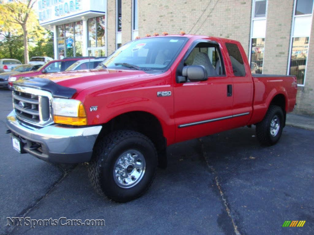 2000 f250 super duty xlt extended cab 4x4 red medium graphite photo 3
