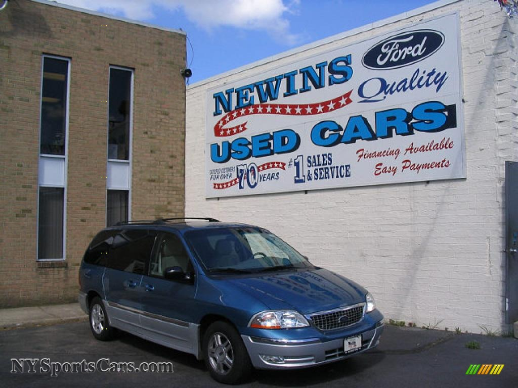 2001 ford windstar sel in light sapphire blue metallic b85920 nysportscars com cars for sale in new york nysportscars com