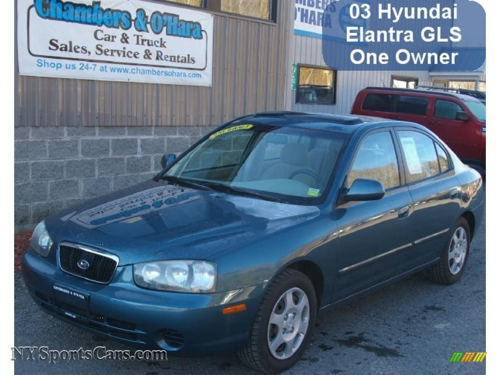2003 hyundai elantra gls sedan in ocean blue 569900 nysportscars com cars for sale in new york nysportscars com