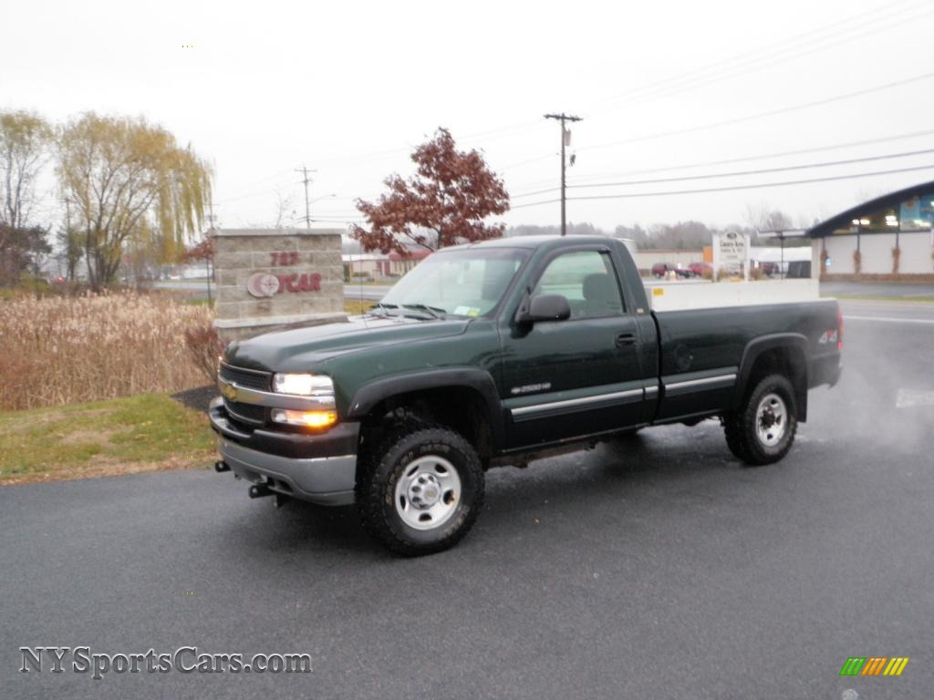 Forest green metallic graphite chevrolet silverado 2500hd ls regular cab