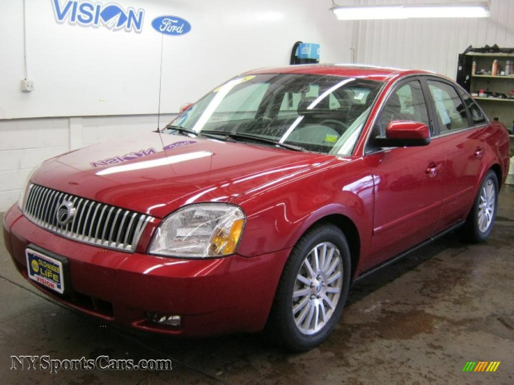 2006 mercury montego premier in vivid red metallic. Black Bedroom Furniture Sets. Home Design Ideas