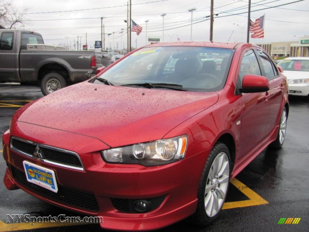 2009 mitsubishi lancer gts in rally red pearl 001726 cars for sale in new. Black Bedroom Furniture Sets. Home Design Ideas