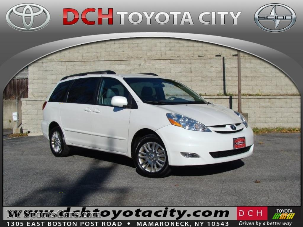 Arctic frost pearl white stone toyota sienna xle limited awd