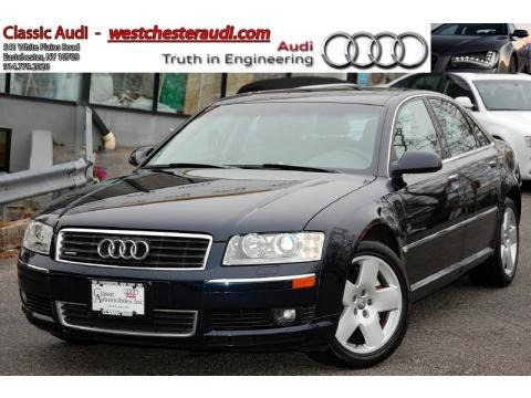 Night Blue Pearl Audi A8 L 4.2 quattro for sale in New York. 2005 Audi A8 L