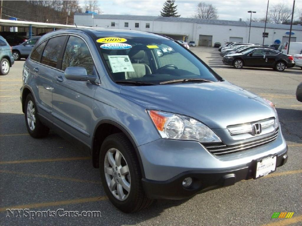 Glacier Blue Metallic / Black Honda CR-V EX-L 4WD