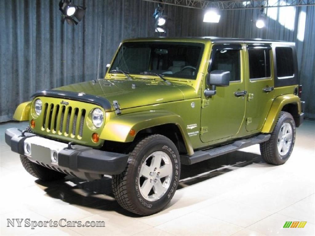 2008 Jeep Wrangler Unlimited Sahara 4x4 In Rescue Green Metallic