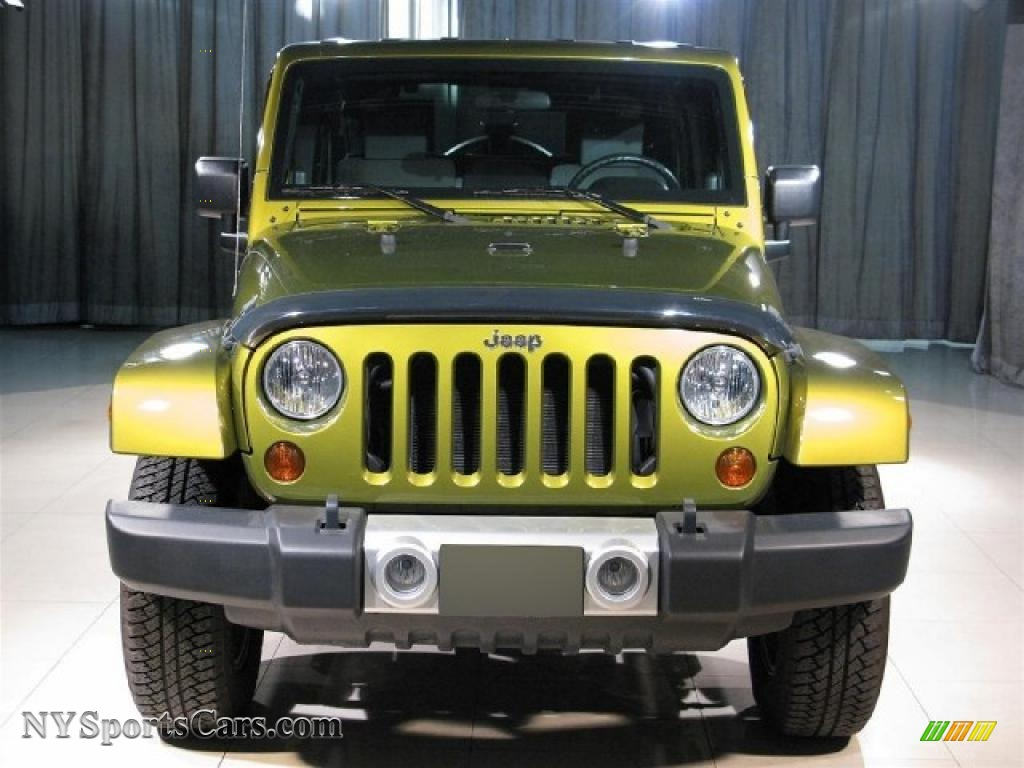 2008 wrangler unlimited sahara 4x4 rescue green metallic dark slate gray med slate