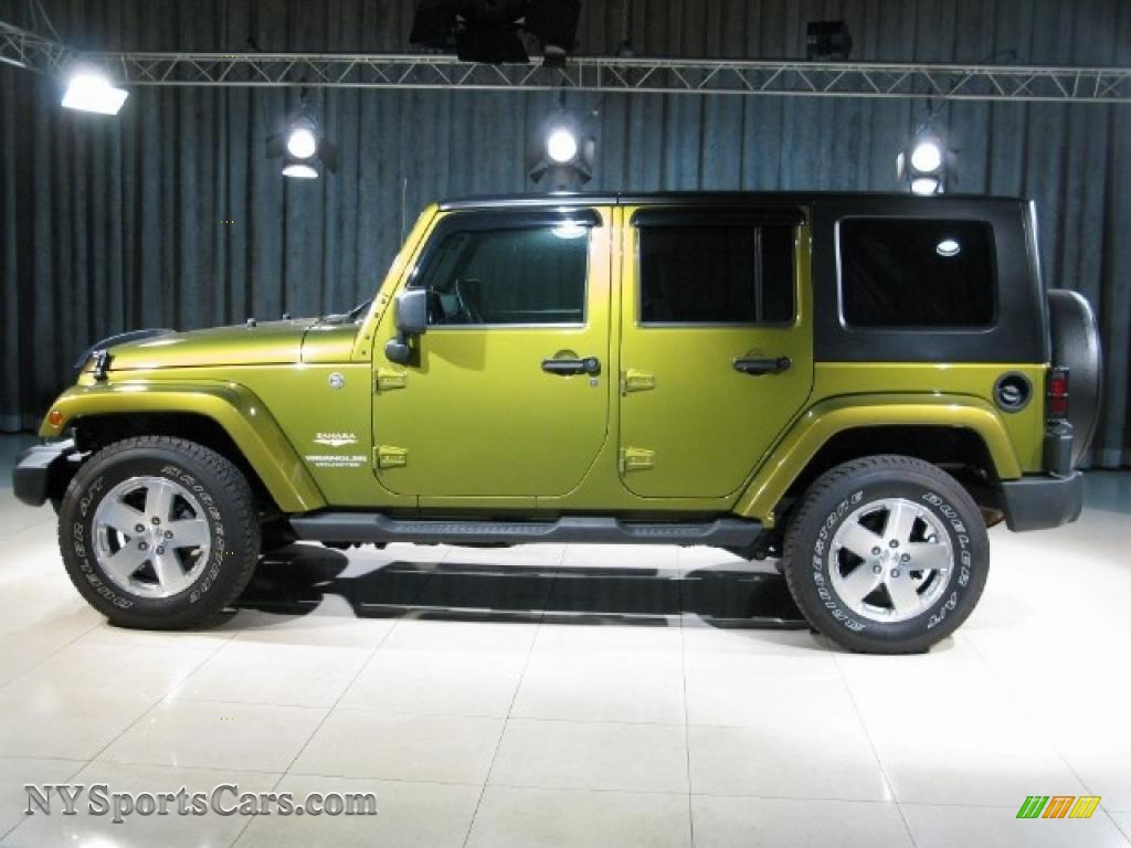 2008 Jeep Wrangler Unlimited Sahara 4x4 In Rescue Green