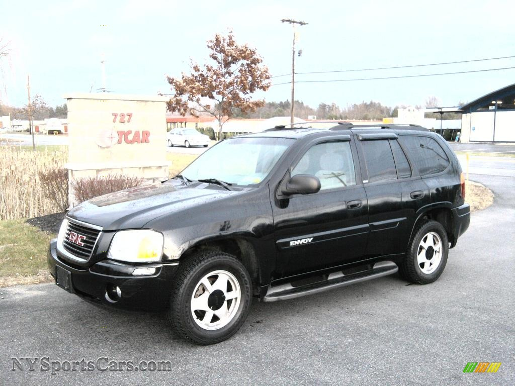 2002 gmc envoy slt 4x4 in onyx black 471199 cars for sale in new york. Black Bedroom Furniture Sets. Home Design Ideas