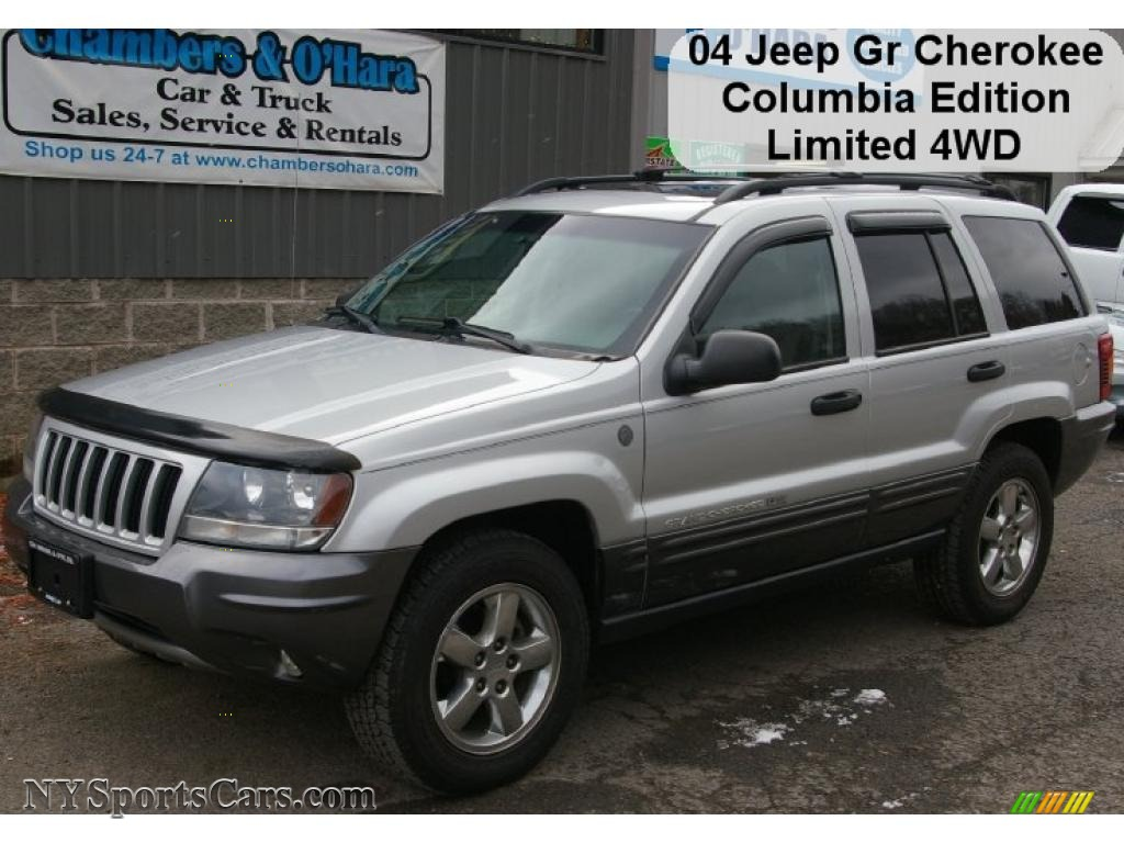 2004 jeep grand cherokee columbia edition 4x4 in bright silver metallic 336907 nysportscars. Black Bedroom Furniture Sets. Home Design Ideas