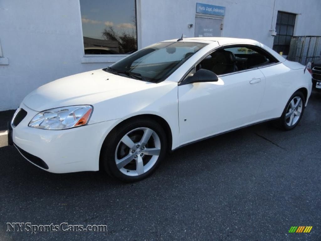2008 Pontiac G6 Gt Convertible In Ivory White 168754