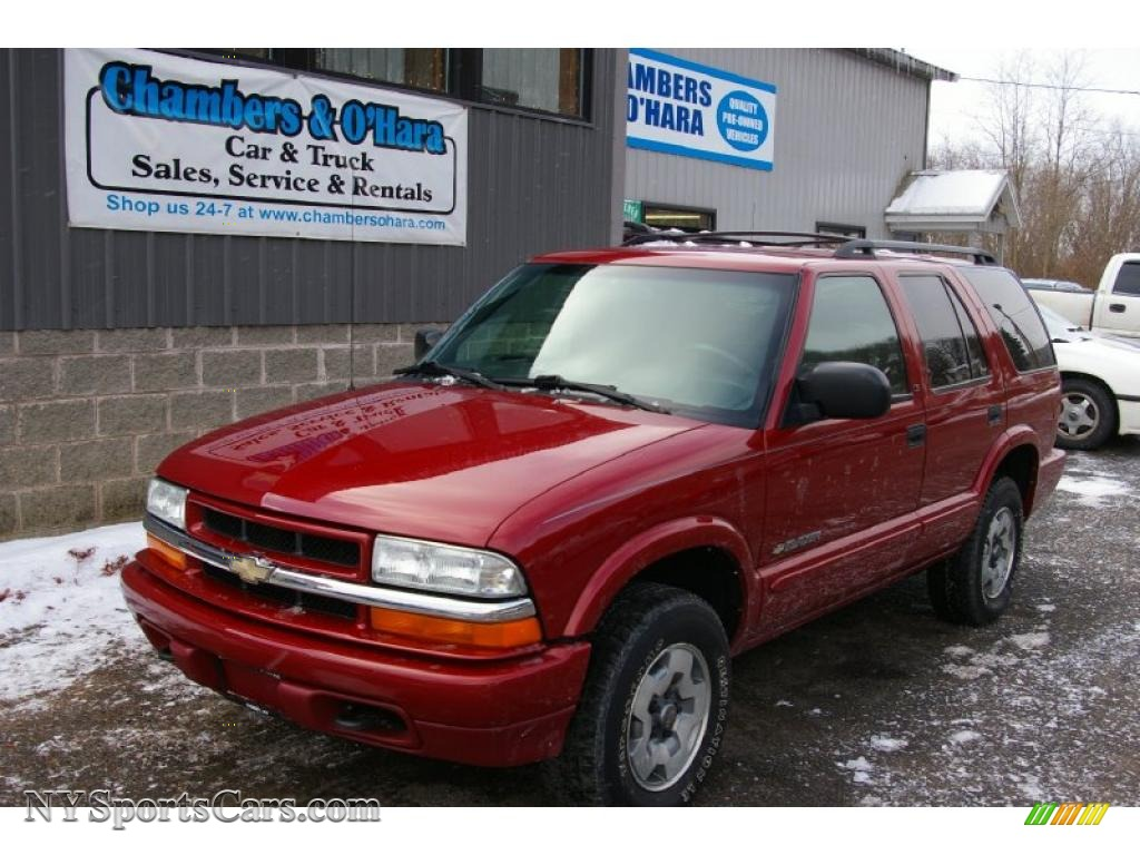 2002 chevrolet blazer ls 4x4 in victory red 214246 nysportscars com cars for sale in new york nysportscars com
