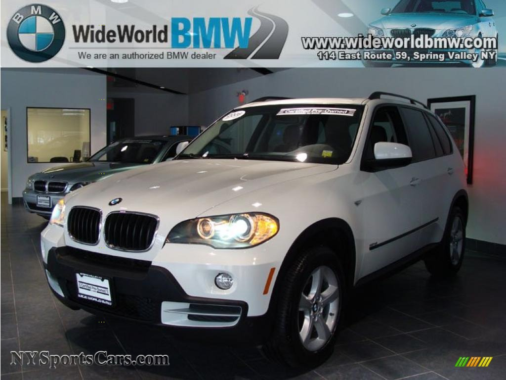 2008 bmw x5 3.0si in alpine white - 000655 | nysportscars
