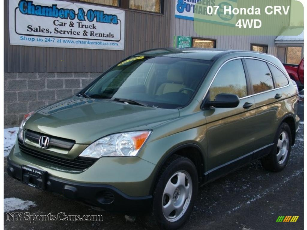 2007 Honda Cr V Lx 4wd In Green Tea Metallic 012313 Nysportscars Com Cars For Sale In New York