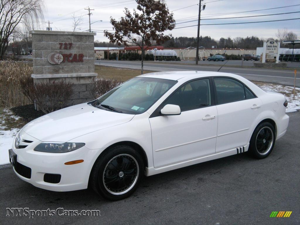 2007 mazda mazda6 i sport sedan in performance white m17394 cars for sale. Black Bedroom Furniture Sets. Home Design Ideas