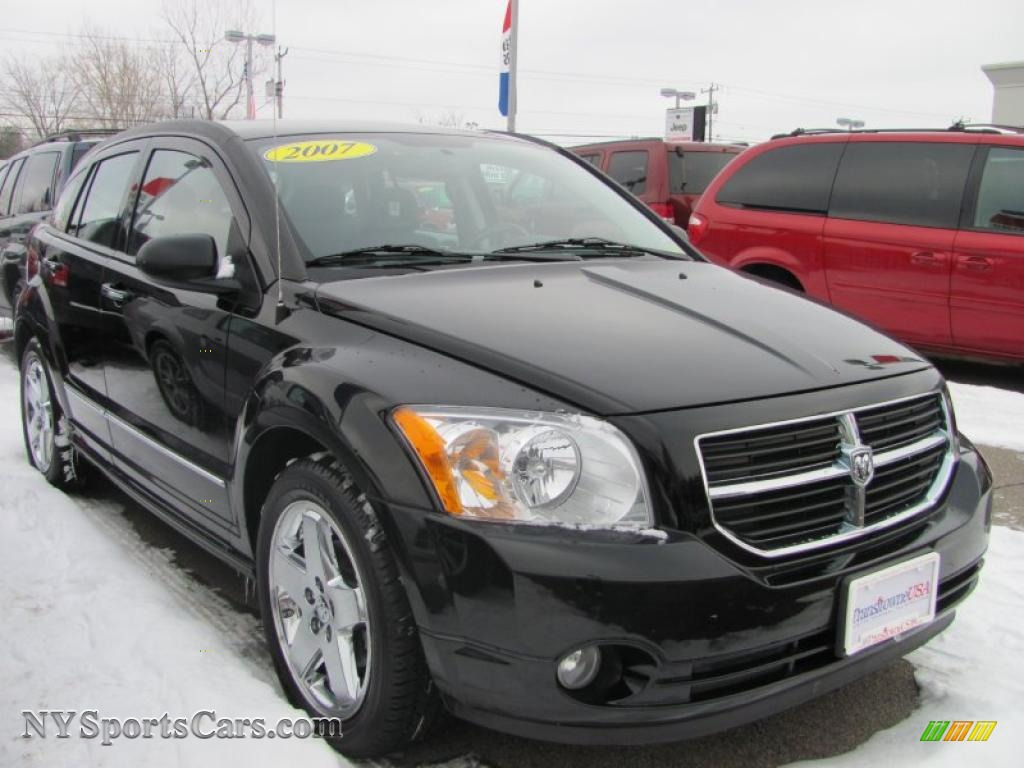 2007 dodge caliber r t awd in black 152986. Black Bedroom Furniture Sets. Home Design Ideas