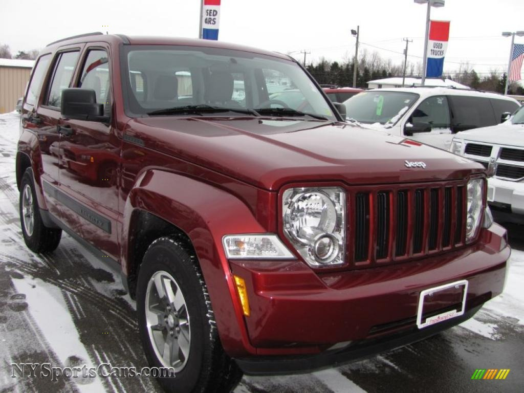 2008 jeep liberty sport 4x4 in red rock crystal pearl - 281208