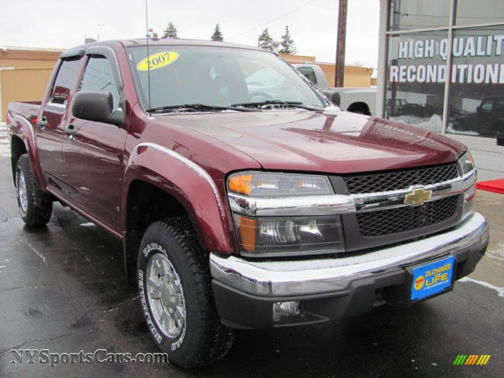 2007 chevrolet colorado lt crew cab 4x4 in deep ruby red metallic