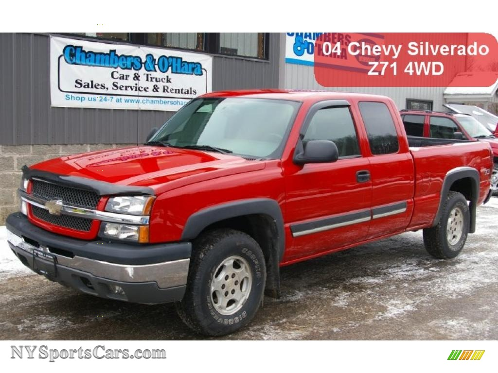 2004 Chevrolet Silverado 1500 Z71 Extended Cab 4x4 in Victory Red