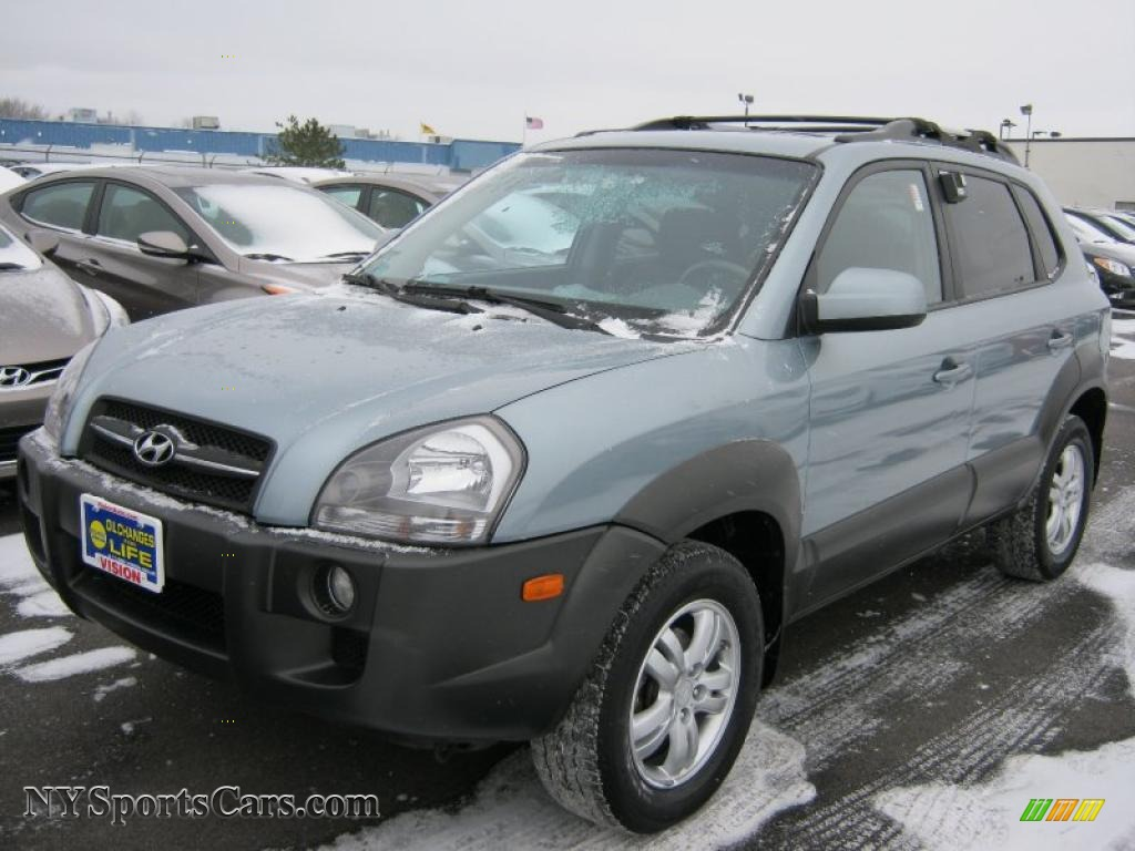 2007 hyundai tucson se 4wd in alpine frost blue metallic. Black Bedroom Furniture Sets. Home Design Ideas