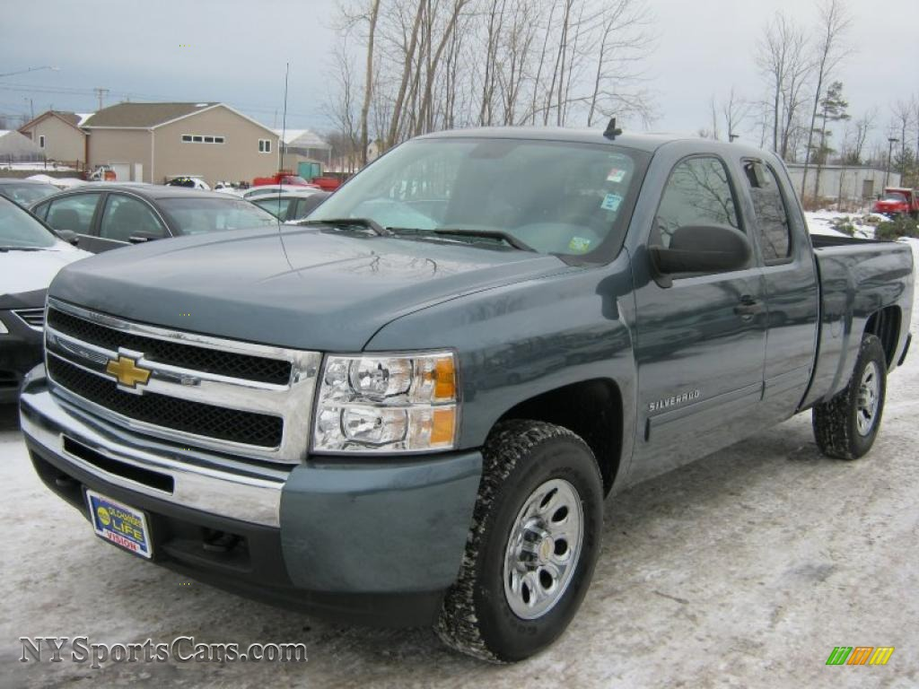 2009 chevrolet silverado 1500 ls extended cab 4x4 in blue granite metallic 286315. Black Bedroom Furniture Sets. Home Design Ideas