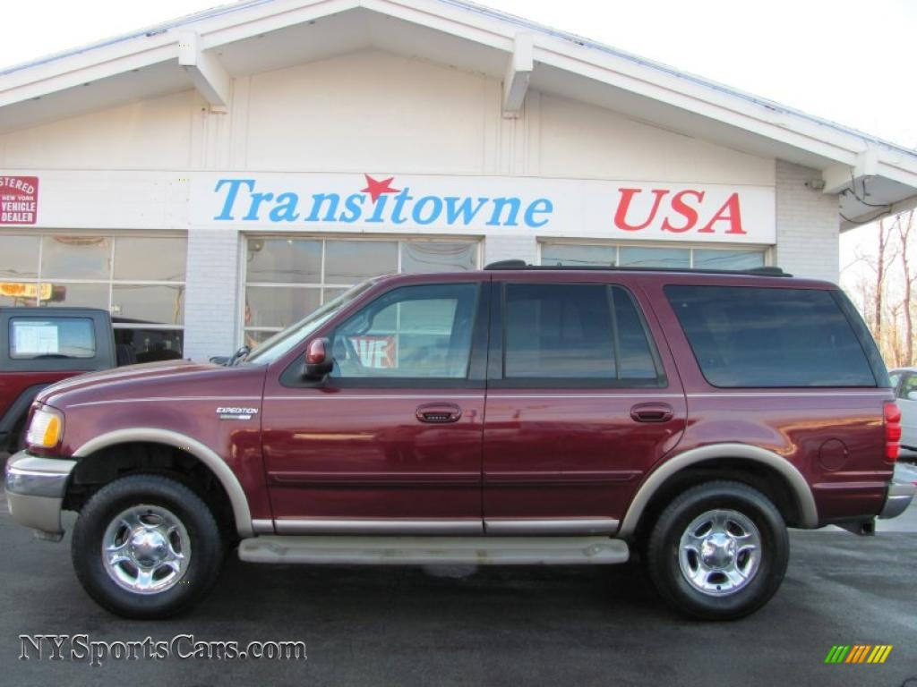 2001 Ford Expedition Eddie Bauer 4x4 In Dark Toreador Red