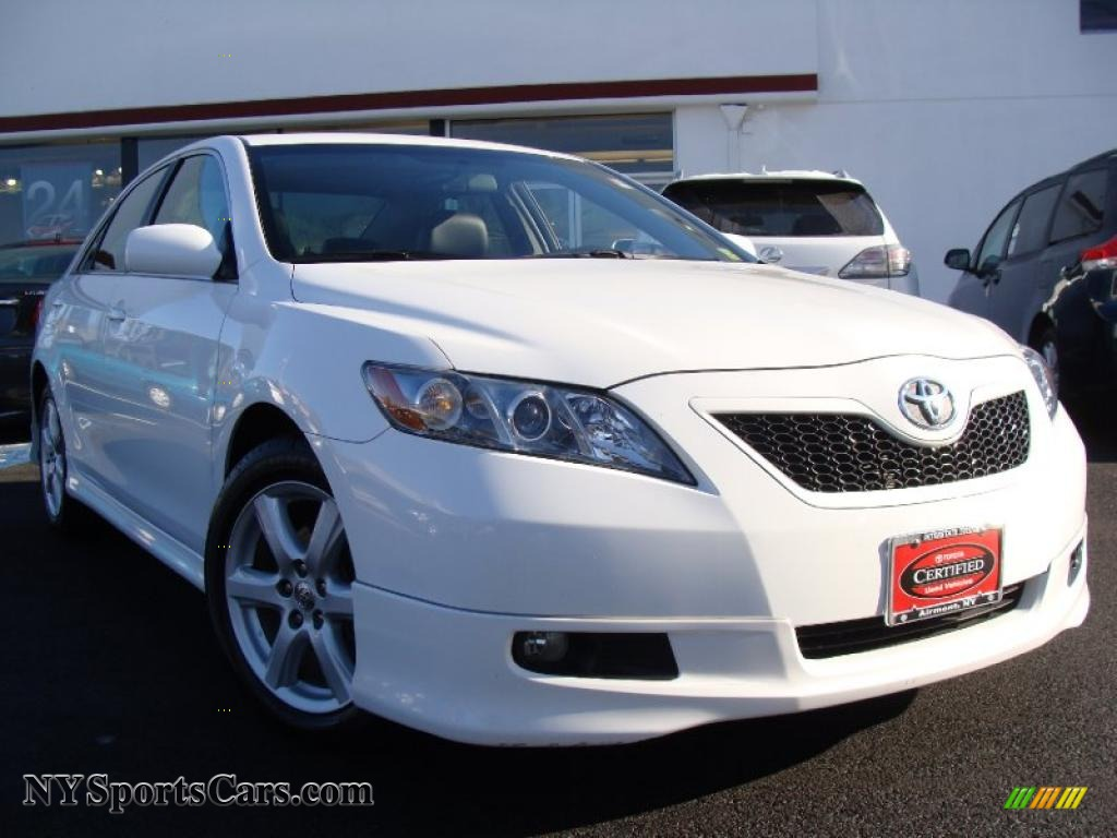 2008 toyota camry se v6 in super white 566081 cars for sale in new york. Black Bedroom Furniture Sets. Home Design Ideas