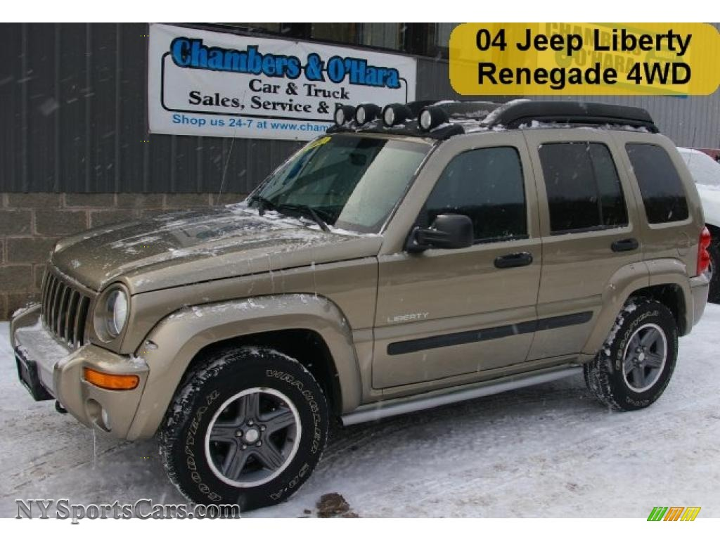 2004 jeep liberty renegade 4x4 in light khaki metallic. Black Bedroom Furniture Sets. Home Design Ideas