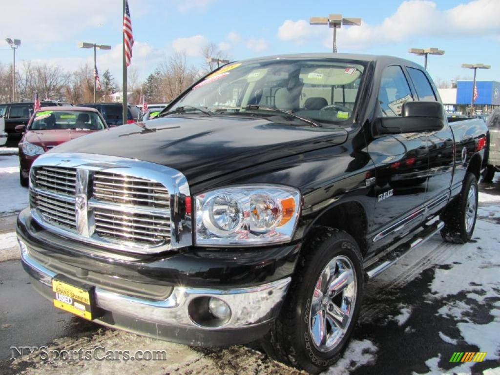 2008 dodge ram 1500 big horn edition quad cab 4x4 in brilliant black crystal pearl 558079. Black Bedroom Furniture Sets. Home Design Ideas
