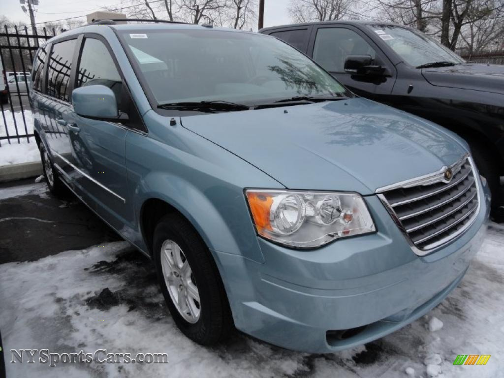 2009 chrysler town country touring in clearwater blue pearl 514086 cars. Black Bedroom Furniture Sets. Home Design Ideas