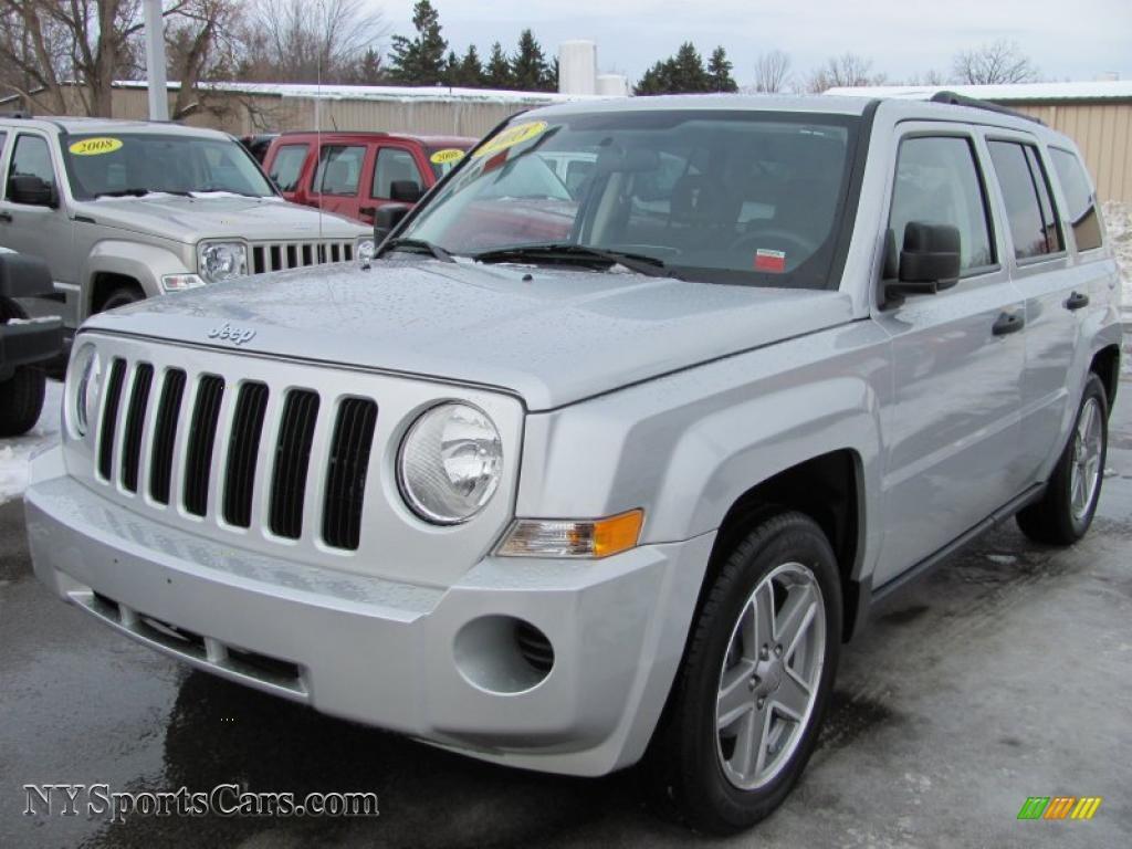 2008 jeep patriot sport 4x4 in bright silver metallic - 634191
