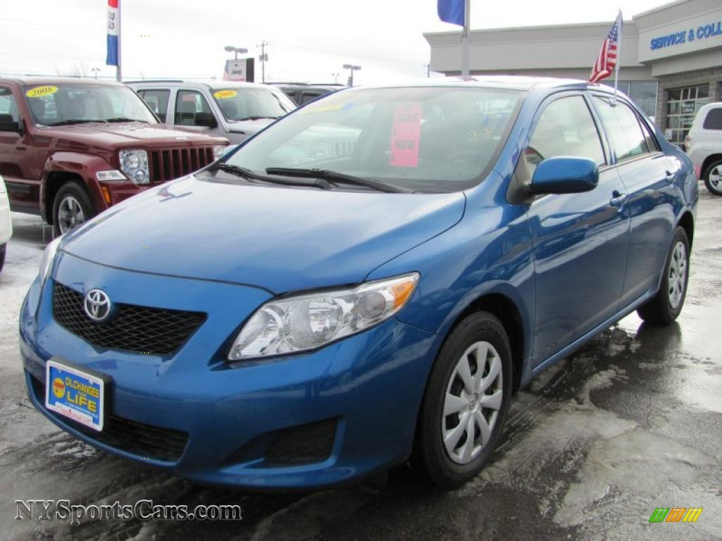 2009 toyota corolla le in blue streak metallic 028855