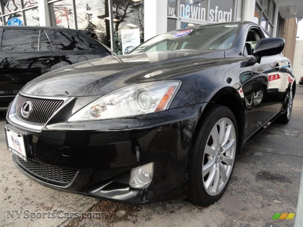 2007 lexus is 250 awd in obsidian black 017892 cars for sale in new york. Black Bedroom Furniture Sets. Home Design Ideas