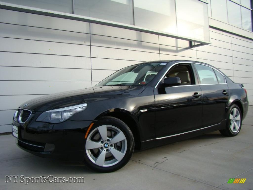 2008 Bmw 5 Series 528xi Sedan In Jet Black Z54169