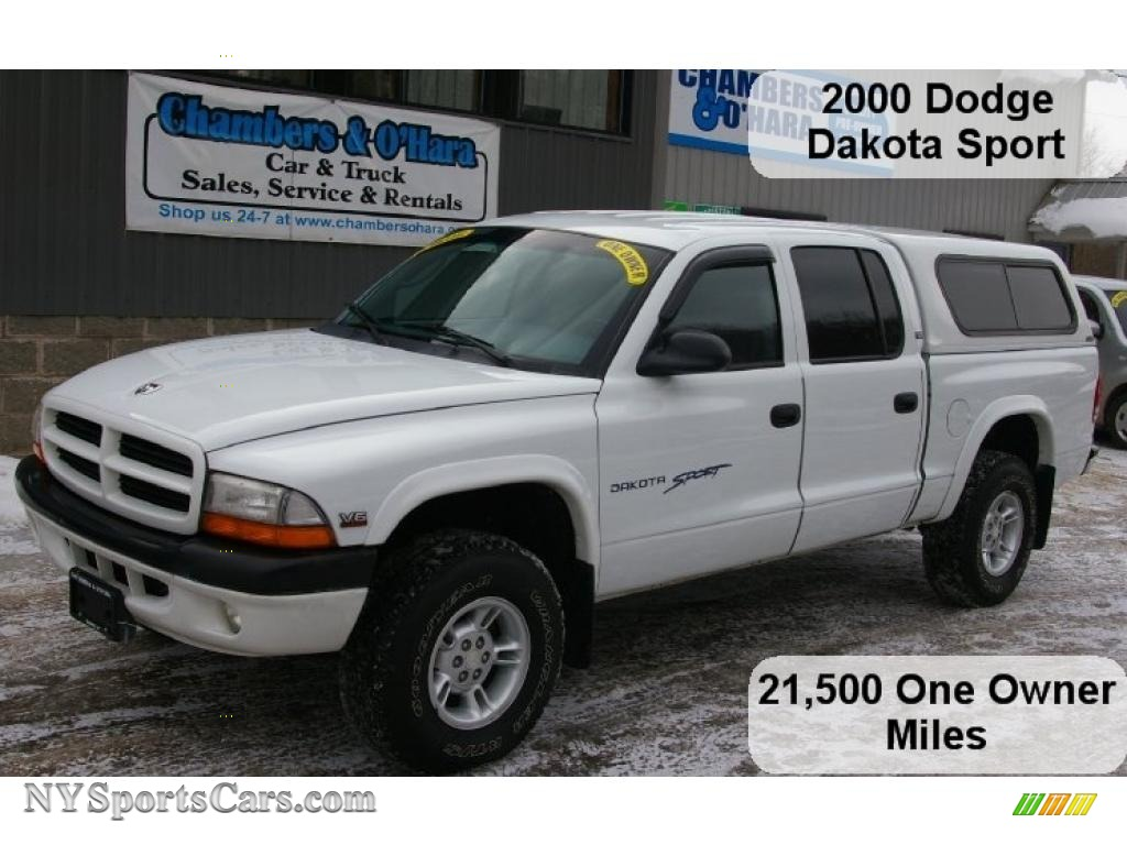 2000 dodge dakota sport crew cab 4x4 in bright white. Black Bedroom Furniture Sets. Home Design Ideas