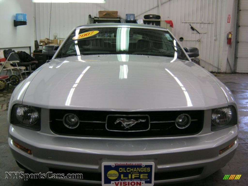2007 Ford Mustang V6 Premium Convertible In Satin Silver