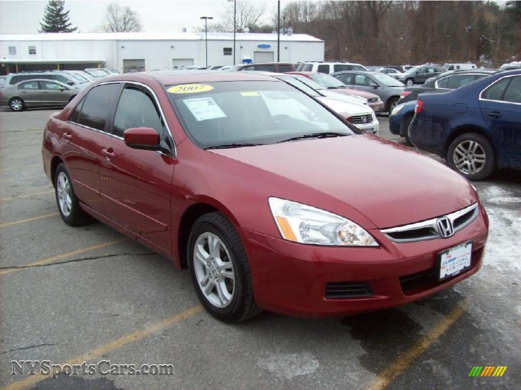 2007 Honda Accord Ex L Sedan In Moroccan Red Pearl 083085 Nysportscars Com Cars For Sale