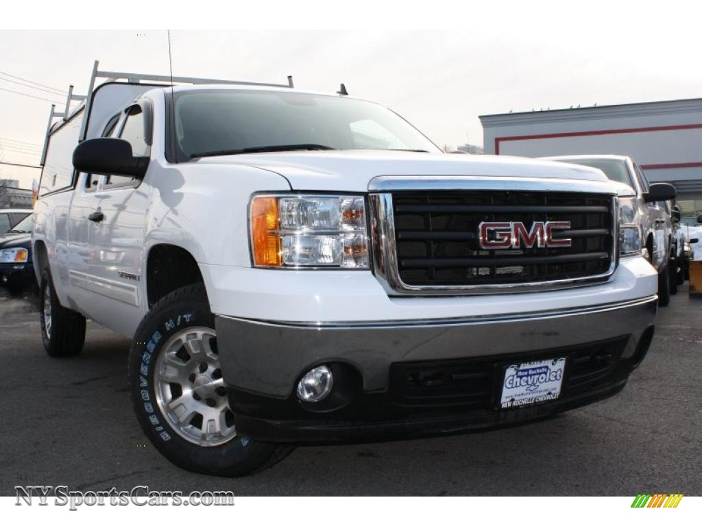 2008 gmc sierra 1500 sle extended cab 4x4 in summit white. Black Bedroom Furniture Sets. Home Design Ideas