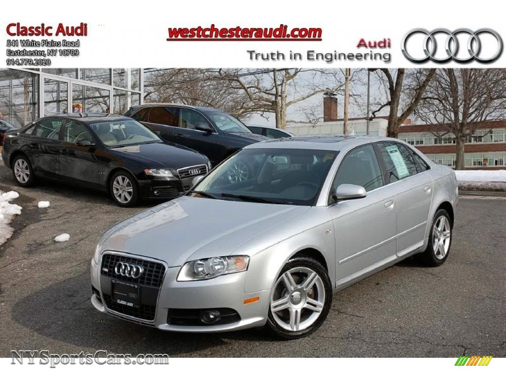 2008 audi a4 2 0t quattro s line sedan in light silver metallic 122997. Black Bedroom Furniture Sets. Home Design Ideas