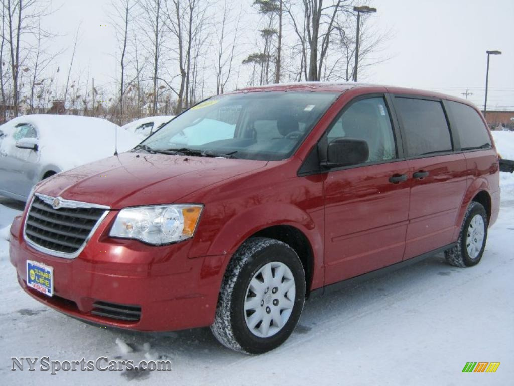 2008 chrysler town country lx in inferno red crystal pearlcoat 724929. Black Bedroom Furniture Sets. Home Design Ideas