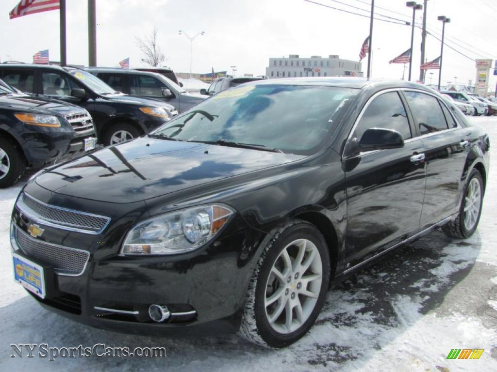 2009 Malibu Ltz Sedan Black Granite Metallic Ebony Brick Photo 1