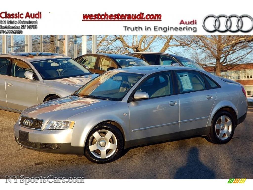 2004 audi a4 1 8t quattro sedan in light silver metallic 057618 nysportscars com cars for sale in new york nysportscars com