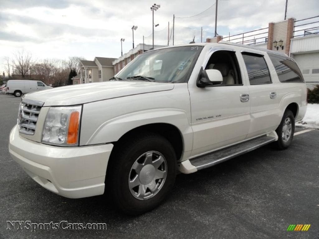 2004 cadillac escalade esv awd platinum edition in white diamond 332237. Black Bedroom Furniture Sets. Home Design Ideas