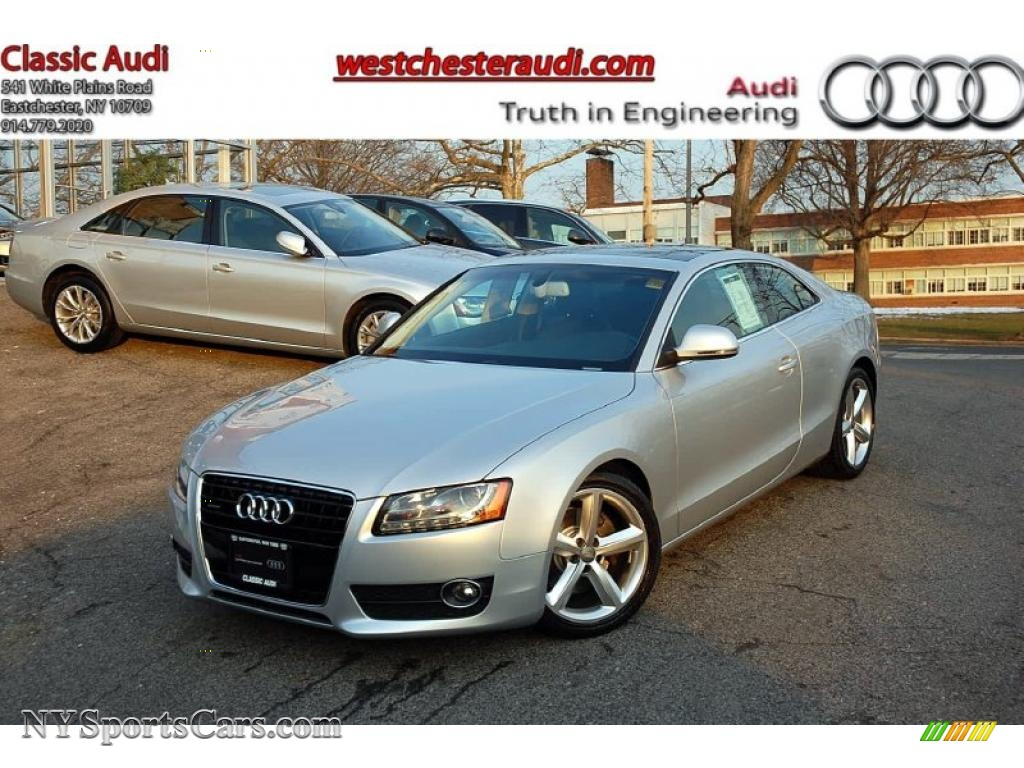 2008 audi a5 3 2 quattro coupe in ice silver metallic 023407 cars for. Black Bedroom Furniture Sets. Home Design Ideas