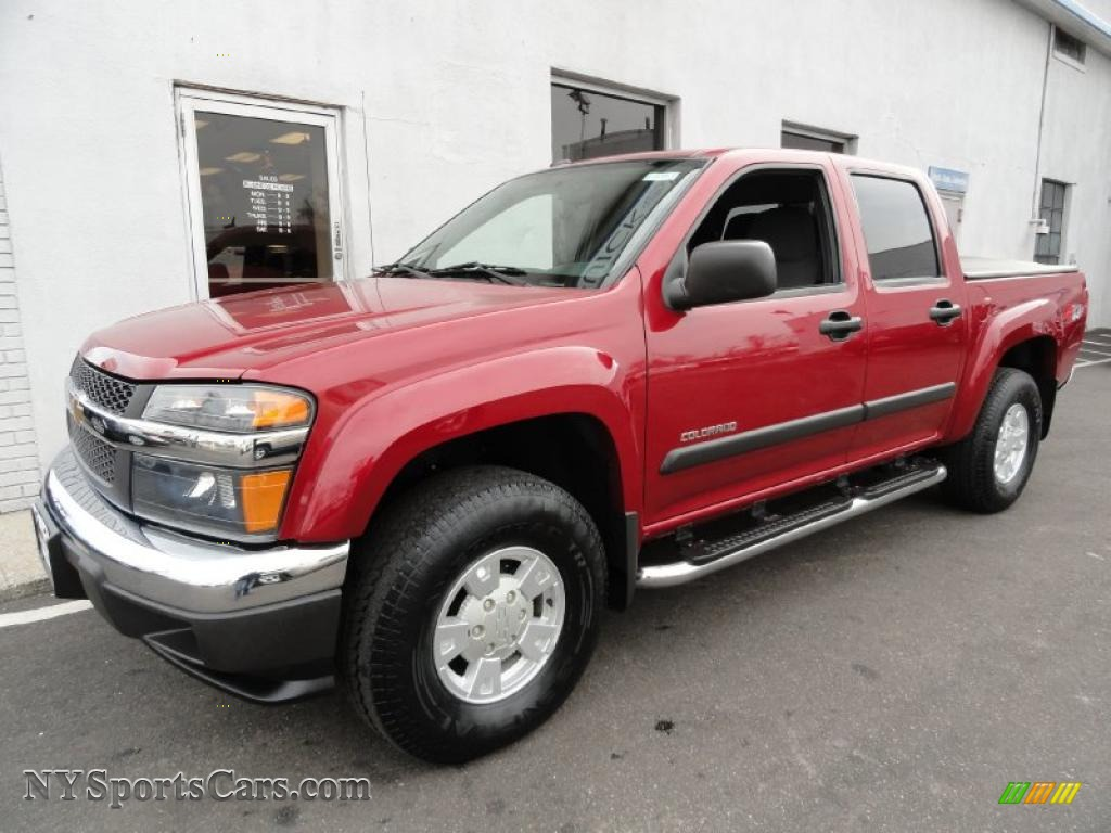 2005 chevrolet colorado z71 crew cab 4x4 in victory red - 259359