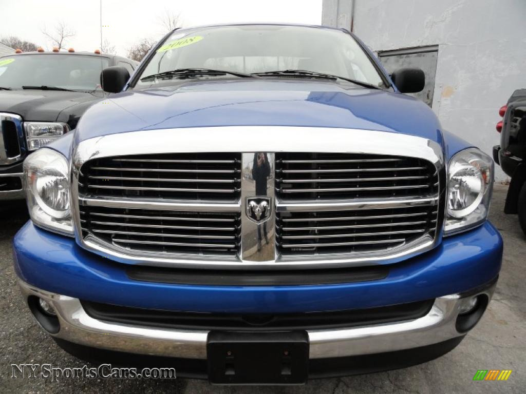 2008 dodge ram 1500 big horn edition quad cab 4x4 in electric blue pearl photo 2 559443. Black Bedroom Furniture Sets. Home Design Ideas