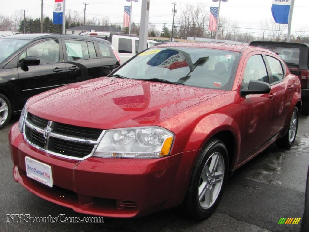 2008 Dodge Avenger SXT in Inferno Red Crystal Pearl - 127790 | NYSportsCars.com - Cars for sale ...