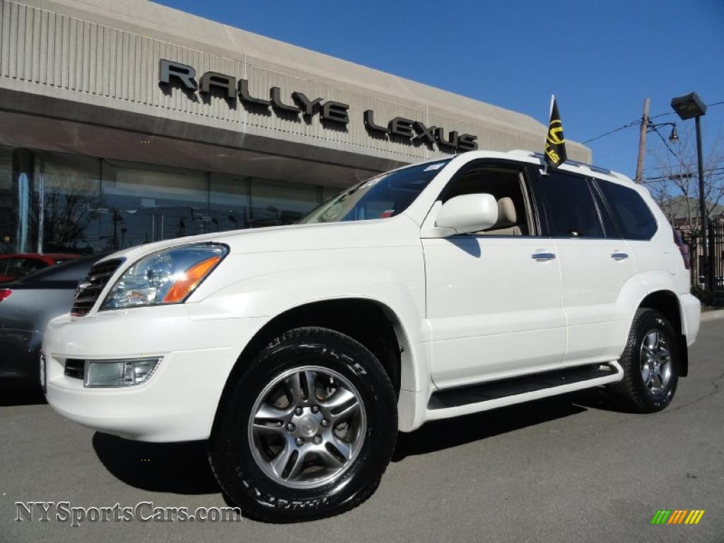 2008 lexus gx 470 in blizzard white pearl 165625 cars for sale in new york. Black Bedroom Furniture Sets. Home Design Ideas