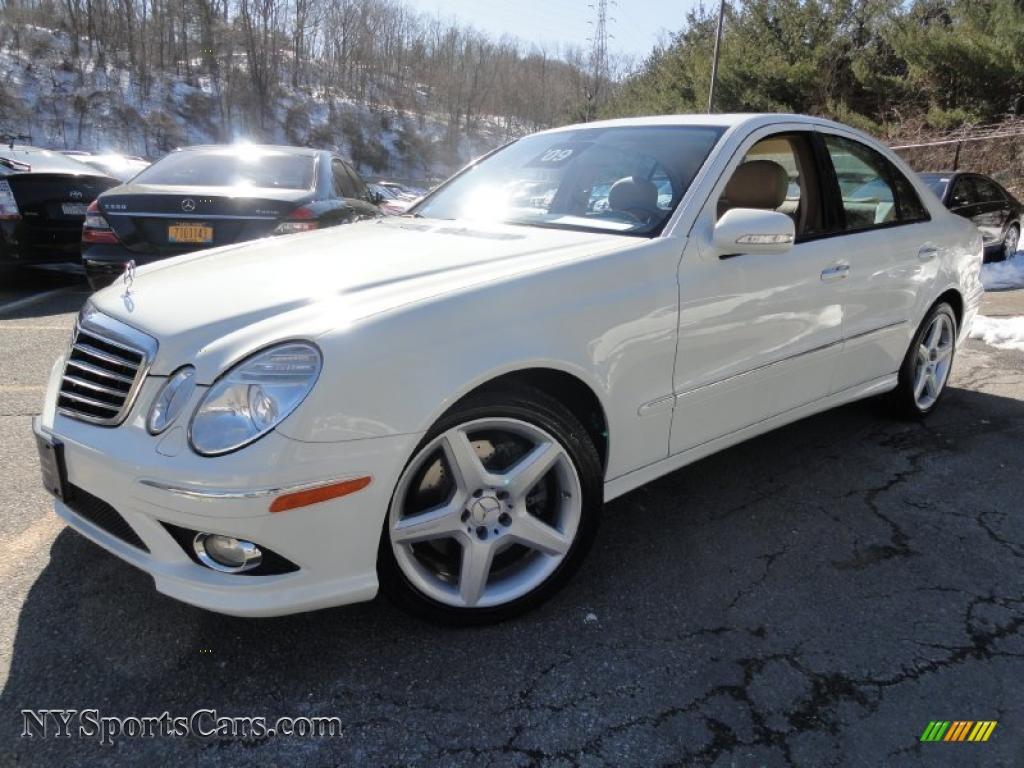 2009 mercedes benz e 350 4matic sedan in arctic white for Mercedes benz 2009 for sale